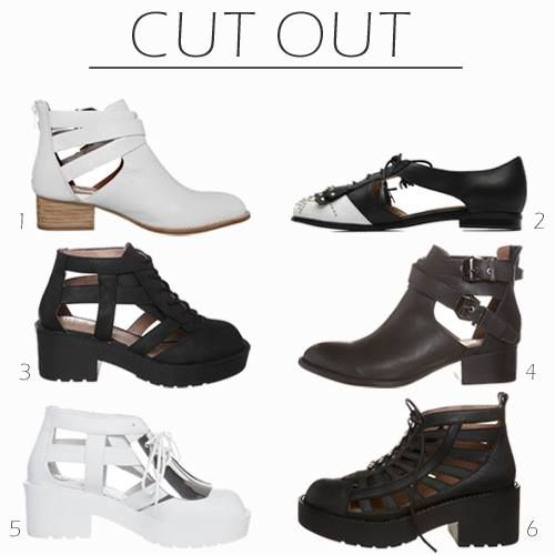 Ankle boots with cut-outs. Which do you like?  /Botki z wycięciami. Które Ci się podobają?  http://glamstorm.com/en/fittingroom/clothes/c/shoes#cat_54