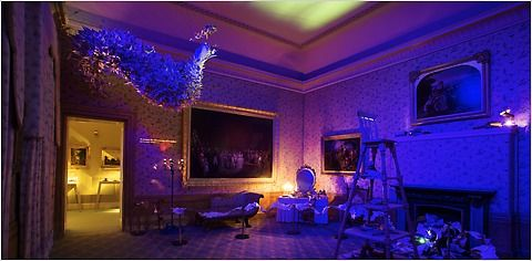 Fashion designer William Tempest's installation for the Enchanted Palace exhibition at Kensington Palace in London.