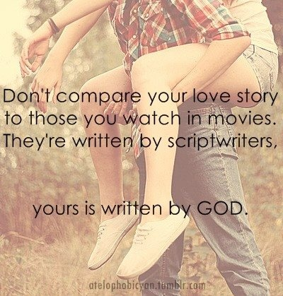 God is writing your love story:)