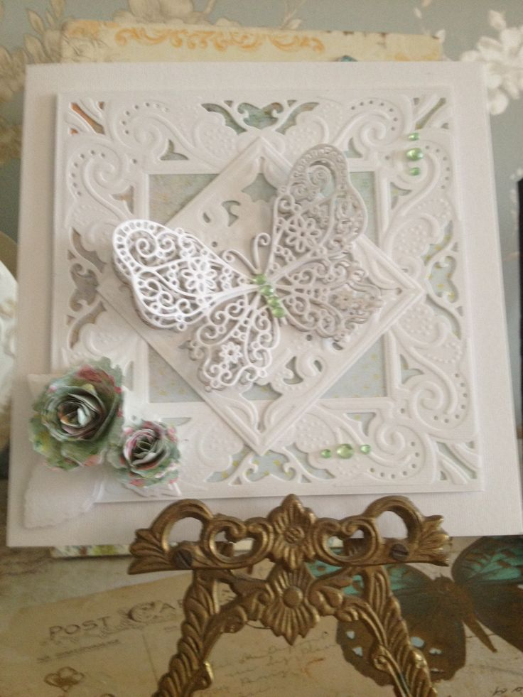 New Diesire extravagance create a card die. Tattered lace butterfly.