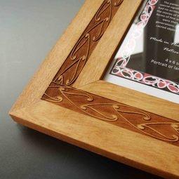 Simply stylish Maori design Wooden Photo Frames