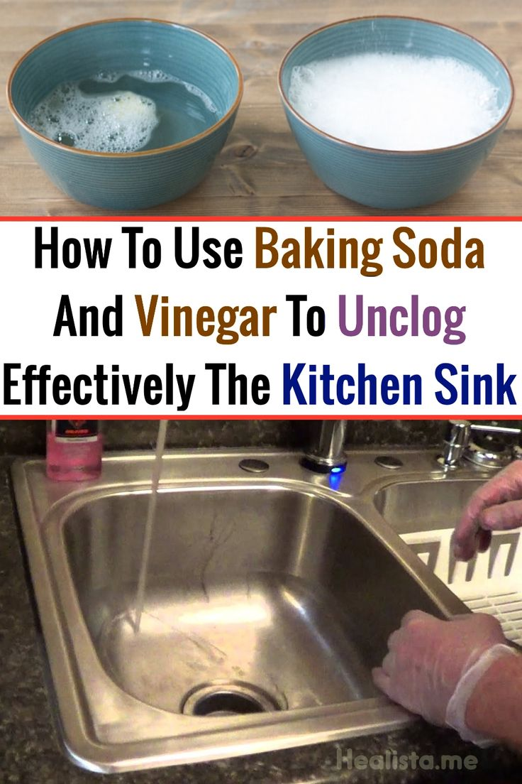 how to unclog a sink with baking soda