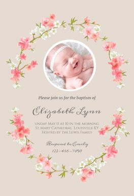 54 best printable baptism christening invitations images on pinterest floral baby printable invitation template customize add text and photos print download stopboris Gallery