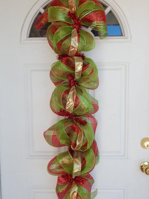 Swag de la puerta de Navidad guirnalda de por CelebratingTogether
