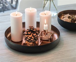 """dr lykke  spisestuebord? Stort lysfat - """"Merry Christmas"""""""