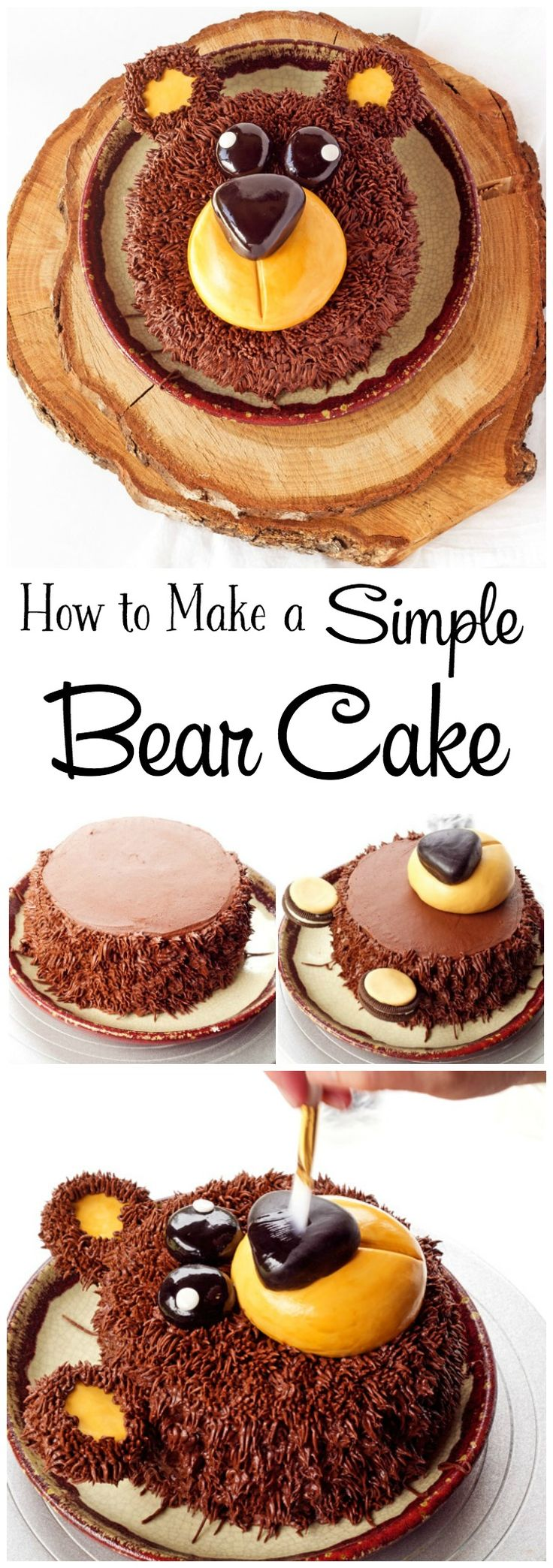 Natalie s creative cakes animal cakes - How To Make A Simple Bear Cake With Video