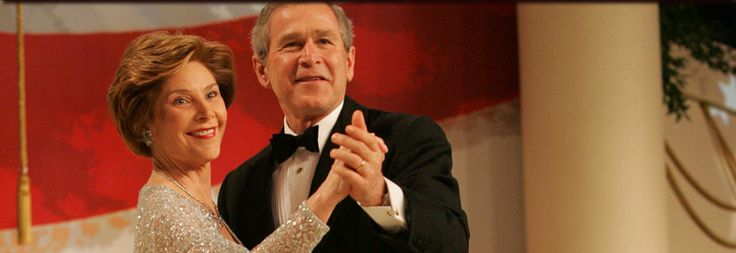 President George W. Bush and First Lady Laura Bush dance together at the Commander-in-Chief Ball, January 20, 2005.