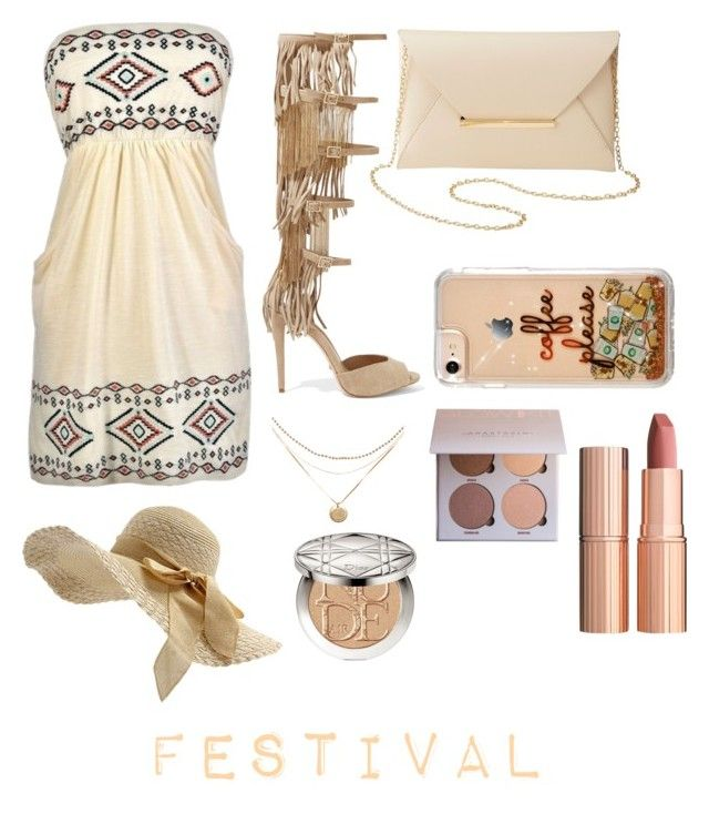 """Dress Up for Festival"" by biebersfuturegirl on Polyvore featuring Mode, Schutz, Charlotte Russe, Christian Dior und Charlotte Tilbury"