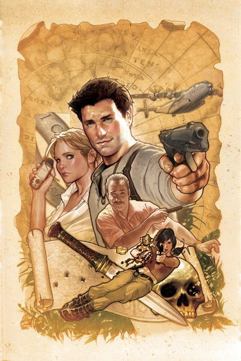 Alternate cover for issue one of 'Uncharted' by Adam Hughes