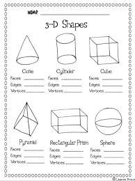 Image result for 3d shape anchor chart first grade