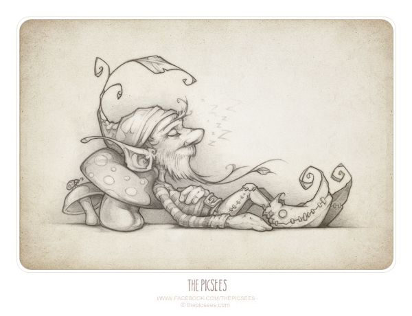 a wee little lazy gnome named Galagasco. You can read his story on our website...here is the click: http://www.thepicsees.com/stories/index.php?ID=9