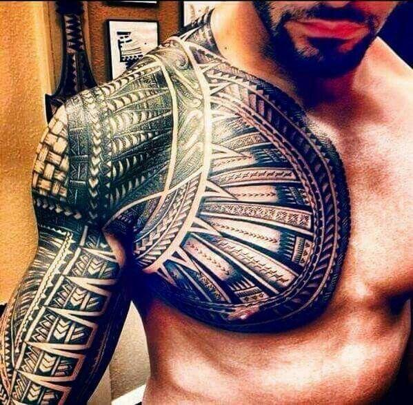 Samoan sleeve on Roman!♡