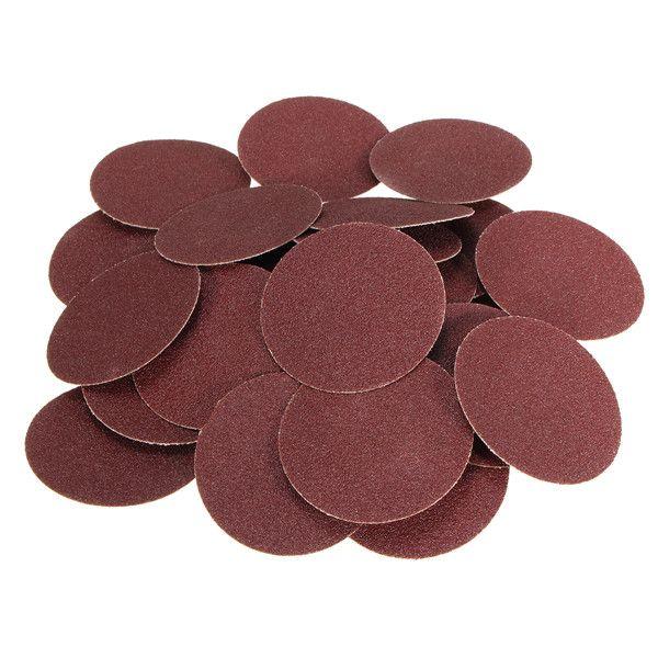 25pcs 3 Inch rollo de óxido de aluminio de 80 granos cerradura R Tipo disco abrasivo de lijado