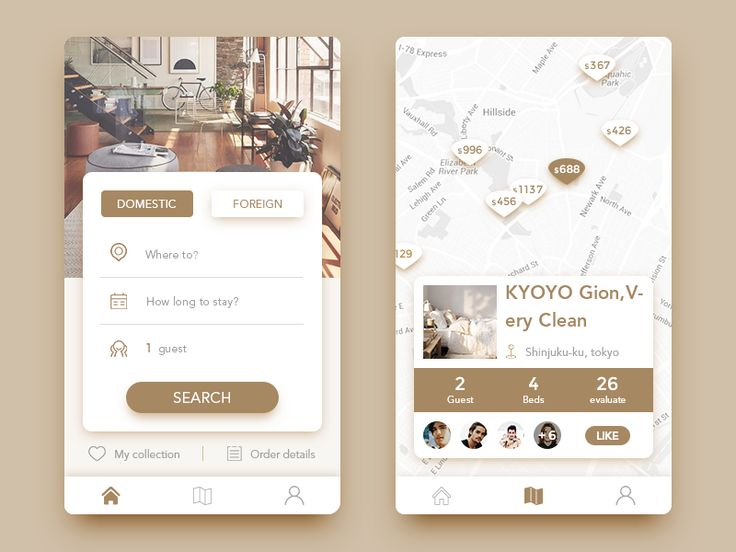 Get accommodation APP by Ink Glow - Dribbble