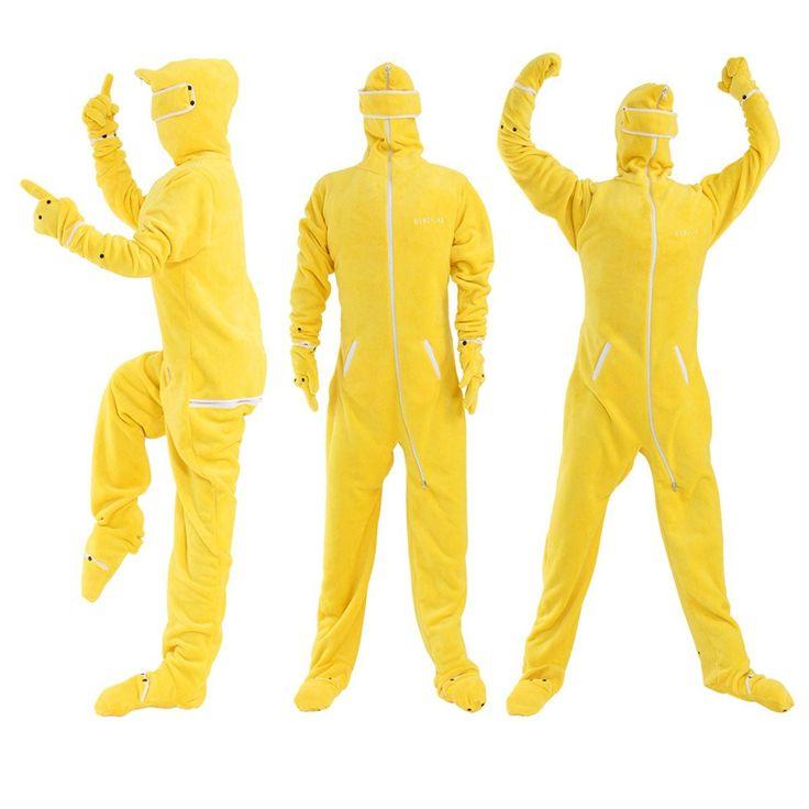 Amazon.co.jp : BIBILAB (ビビラボ) 冬のダメ着 人型寝袋 フリース EH-YELLOW-XL ニュータイプ着る毛布 : ホーム&キッチン
