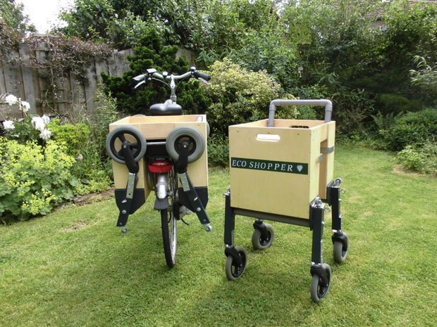 DIY  ::  Bike-Portable Shopping Cart  ( http://www.instructables.com/id/Bike-Portable-Shopping-Cart/ )