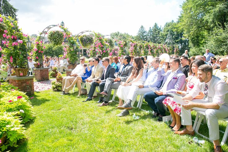 Mikkel Paige Photography photos of a gay wedding at The Manor in West Orange, NJ. The grooms had an outdoor ceremony.