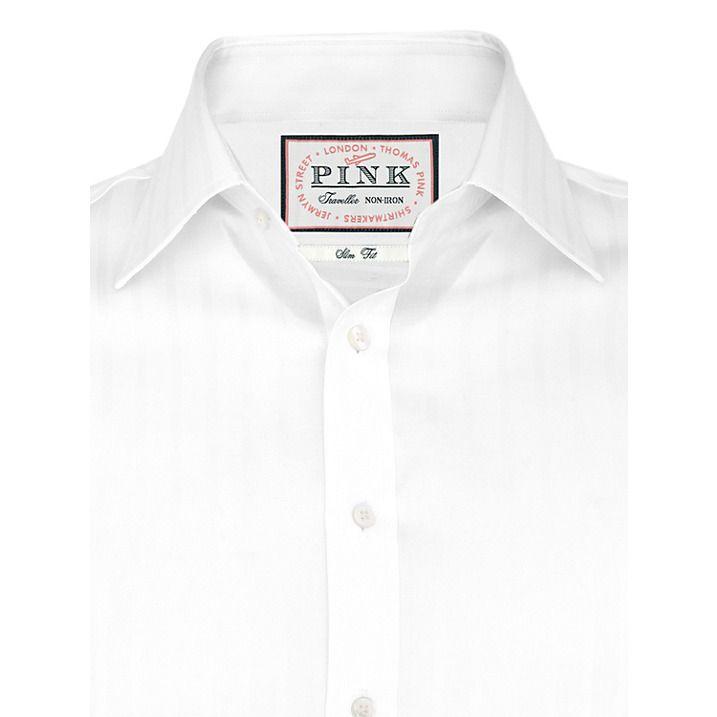 Buy Thomas Pink Race Texture Slim Fit Shirt, White, 14 Online at johnlewis.com