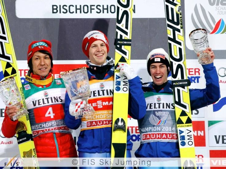 Michael Hayboeck took his first win in the World Cup today in Bischofshofen, Noriaki Kasai was second and Stefan Kraft third!
