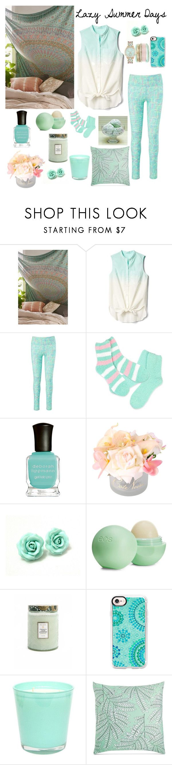 """""""Lazy Summer Days"""" by curly3996 ❤ liked on Polyvore featuring Urban Outfitters, Gap, So iLL, Deborah Lippmann, Côte Noire, Eos, Voluspa, Casetify, Charter Club and Jessica Carlyle"""