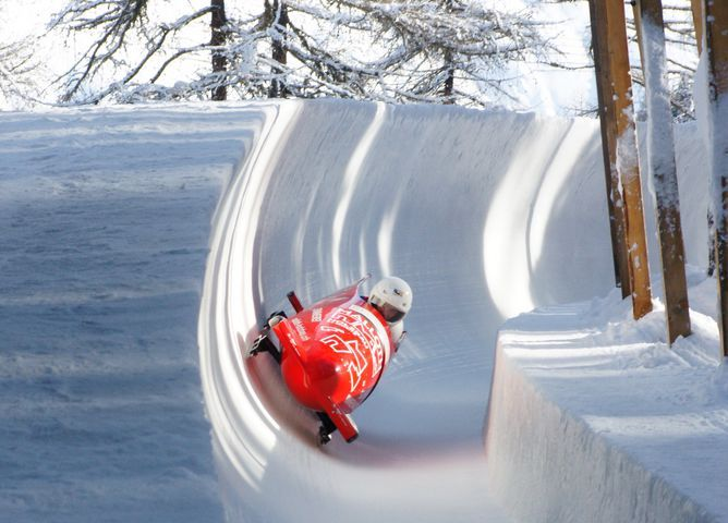 The Olympia Bob Run St. Moritz-Celerina was taken in 1904 and is the oldest still in use bobsleigh track in the world.