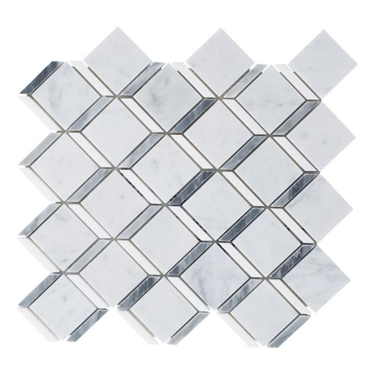 Carrara Thassos Cube Marble Mosaic   11in. X 12in.   100248491 | Floor And