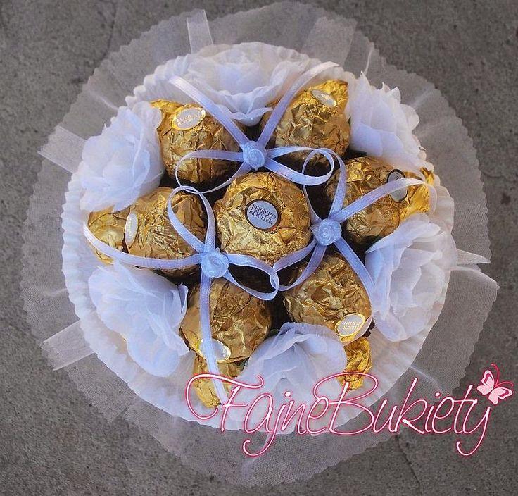 Słodki Bukiet z czekoladek Ferrero Rocher