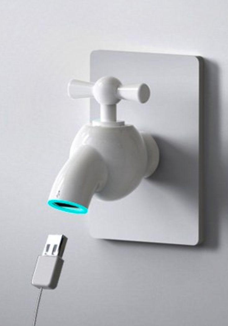 Faucet USB Hub - cute!