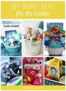 From popular Frozen kits, to little artist buckets, you will love these creative gift basket ideas for kids!