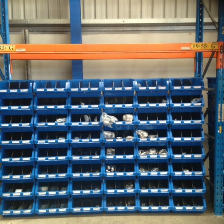 We love seeing our Fischer Plastics Stor-Pak bins in use! They are great for organising smaller items, especially in big spaces such as this warehouse.