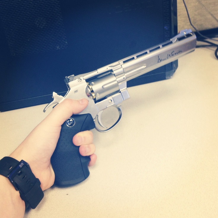 "New Dan Wesson Revolver 6"" Barrel! Available at Www.badlandspaintball.com"