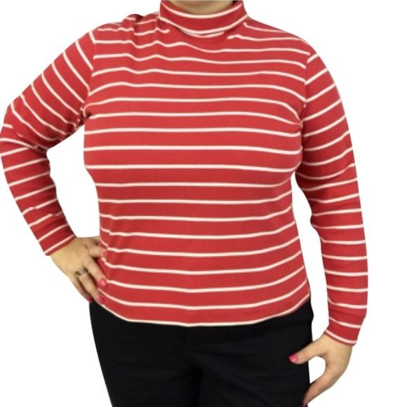 Land's End Turtleneck Lands' End Turtleneck. Size XL. 100% cotton. Made in the USA. Machine wash bowl. Turtleneck is free of stains, orders, defects. Size XL. Lands' End Tops