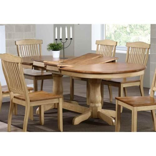 Pedestal Table with Butterfly Leaf