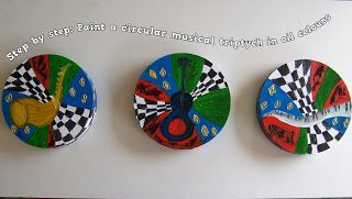 A Pretty Talent Blog: Painting a Musical Triptych on Three Circular Canvasses