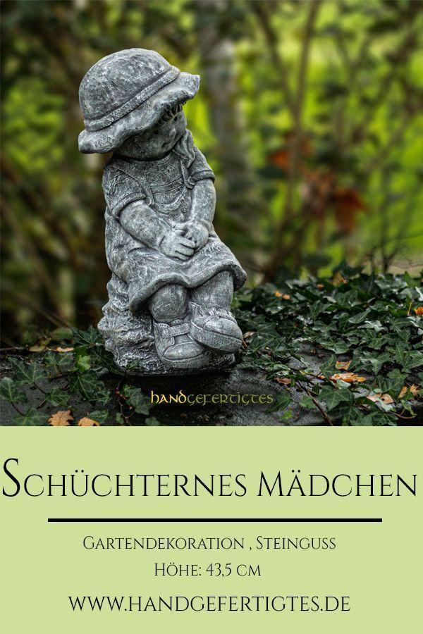 Gartenfigur Steinguss Madchen In 2020 Steinfiguren Steinfiguren Garten Gartenfiguren