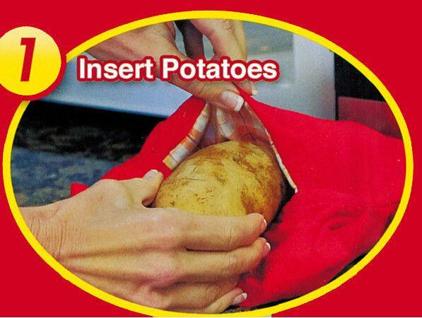 Мешок для быстрого запекания картофеля в микроволновке