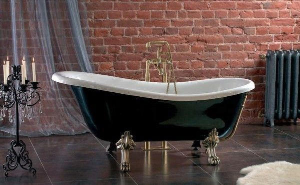 Ванна классическая Romance Collection Opera цвет чёрно-белый (ножки: хром, бронза, золото, белые) арт. 175800790BW