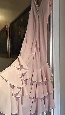 Abito John Galliano® In Pura Seta Rosa Chiaro A Balze. Taglia 40 F ~ 44 IT | eBay