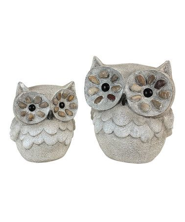 Look what I found on #zulily! Pebble Owl Set #zulilyfinds