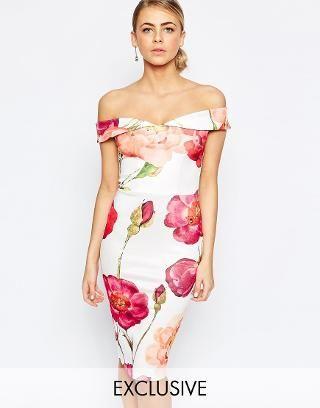 Immagine 1 di Hope and Ivy - Vestito longuette a fascia oversize con stampa floreale
