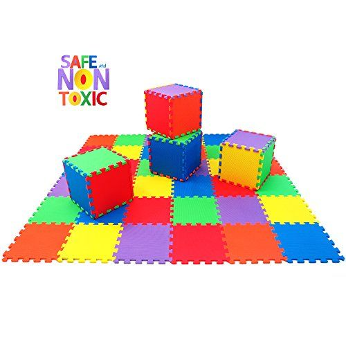 NON-TOXIC 36 Piece Children Play Mat - Extra-Thick Comfortable Tiles, 6 Vibrant Colors Play Platoon http://www.amazon.com/dp/B015T8S8BA/ref=cm_sw_r_pi_dp_Lh40wb1W65J81