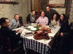 Applying for Italian Citizenship with italyMONDO! during the Thanksgiving break?  Now an annual tradition, here are some clients as we gather for a Thanksgiving Dinner in Italy... Turkey and all! :-)