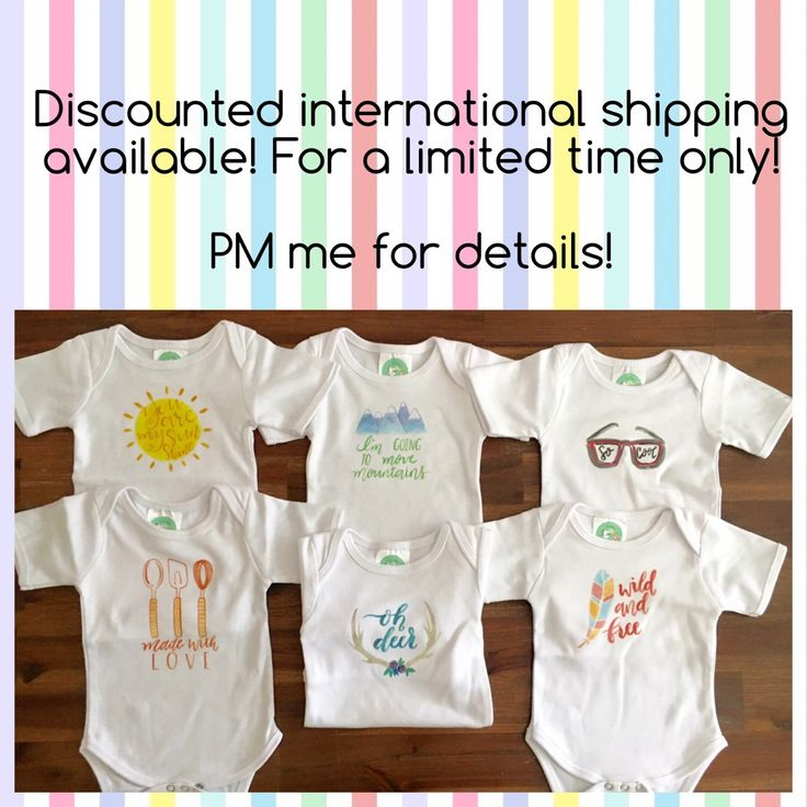 Offering Discounts On International Shipping! Limited Time Only! PM Me For  Details! BabyOnesie DecoratingShower