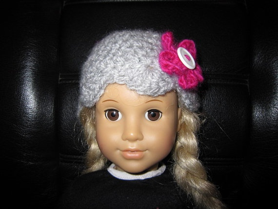 Crochet hat fits American Girl Doll by disneymomma on Etsy, $10.00