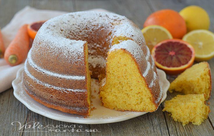 CIAMBELLA ACE SOFFICISSIMA con arancia carota e limone, SENZA BURRO, morbida, leggera e profumata, facilissima e golosissima