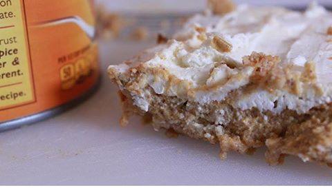 Low Calorie Pumpkin Icebox Pie Makes: 6 servings