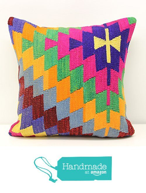Hand woven kilim pillow cover 18x18 inch (45x45 cm) Oriental Kilim pillow cover Home Decor Natural Pillow cover Accent Kilim Cushion Cover from Kilimwarehouse https://www.amazon.com/dp/B01N7MMSV9/ref=hnd_sw_r_pi_dp_VHqzybZRF68NR #handmadeatamazon