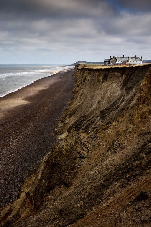 Norfolk, England ✤ I remember visiting Happisborough as a child. The road fell off a sandy cliff, just like this!
