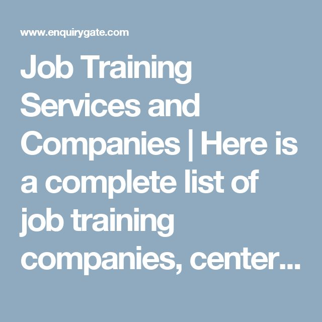 Job Training Services and Companies | Here is a complete list of job training companies, centers and services in India