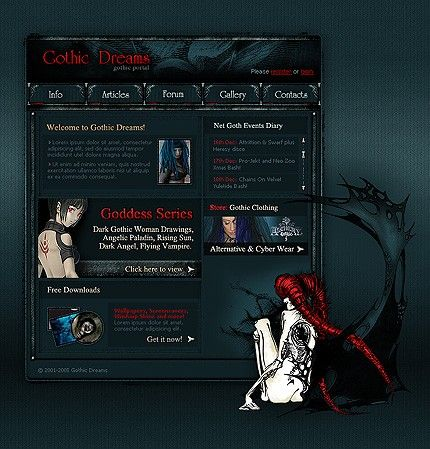FLASH SITE #template // Regular price: $66 // Unique price: $1830 // Sources available:.SWF,  .HTML,  .PSD, .FLA #Website #Halloween #Flash  #Gothic